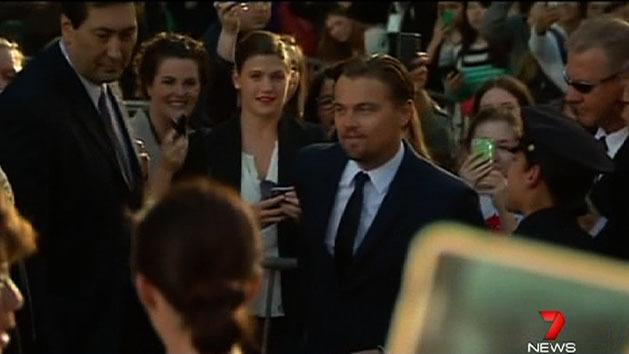 DiCaprio at Great Gatsby premier