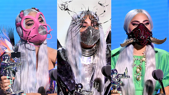 Lady Gaga S Vma Face Forward Fashion Statements Wear A Mask It S A Sign Of Respect