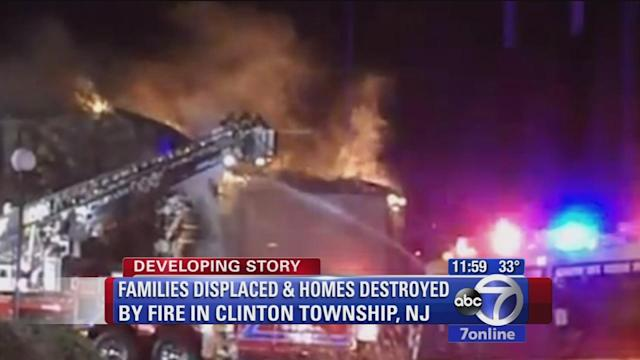 18 families displaced after condominium complex fire