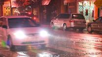 Wet and windy conditions around the Bay Area