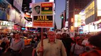 Protesters gather for demonstration in Times Square