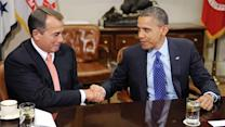 """Obama, congressional leaders talk """"fiscal cliff"""""""