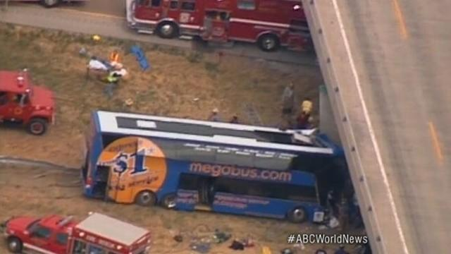 Megabus Crashes Into Illinois Highway Overpass