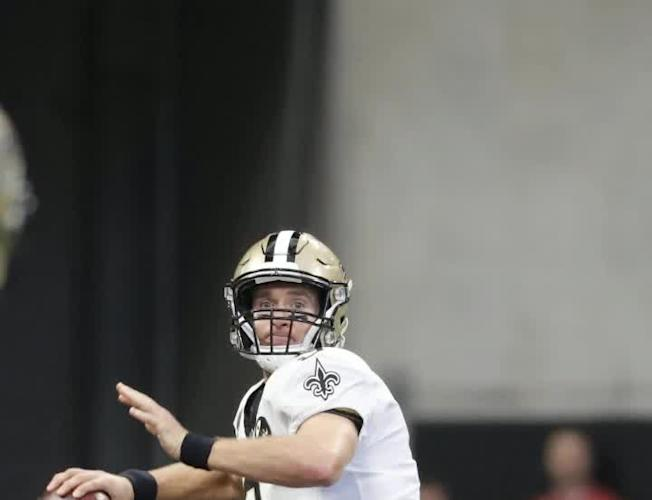 Saints QB Drew Brees sets NFL record for most completions  Video  ab5da2e35