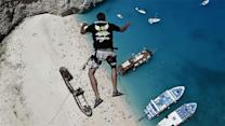 Photos of the Day - Daredevil's Jump in Greece