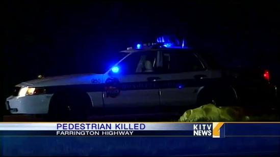 Pedestrian killed in motor vehicle incident on Farrington Highway