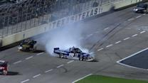 Keselowski saves it after contact with Lofton