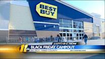 Shoppers camp out for great deals