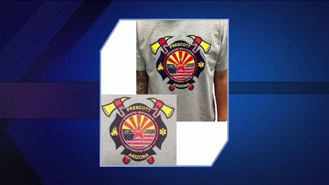Chicago suburban couple sells shirts to benefit Arizona firefighers` families
