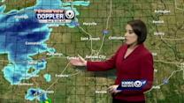 Wintry mix falls over parts of metro