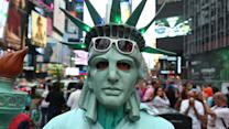 Dressing Up in Times Square
