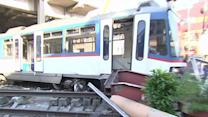 Raw: Manila Commuter Train Crashes Into Barrier