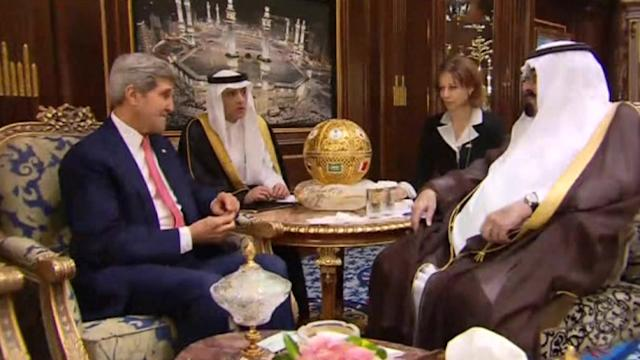 Kerry tries to sooth relations with Saudi Arabia, but tensions evident