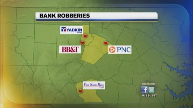 Fourth bank robbery reported in area