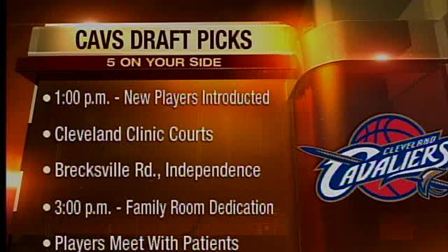 Noon: Cleveland Cavaliers select Dion Waiters