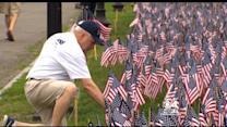 American Flags Fill Boston Common For Memorial Day