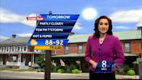 Hot and humid weather continues