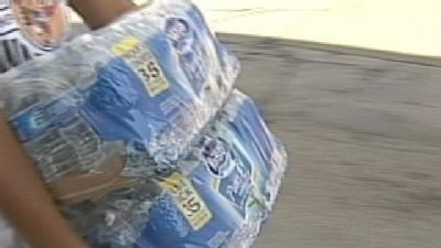 People Donate Water To Help Homeless