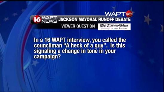 Debate starts off with heated sparring match
