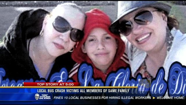 Local bus crash victims all members of same family