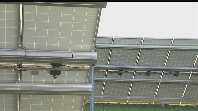 Large solar farm operating at Indianapolis airport