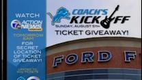 Detroit Lion's Coach's Kickoff Ticket Giveaway