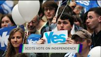 Scots vote on independence referendum