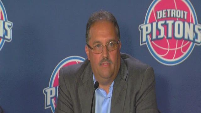 Pistons introduce Stan Van Gundy as new head coach