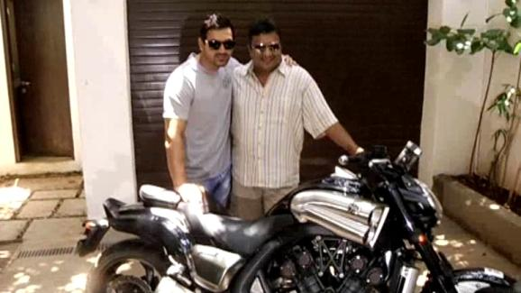 John gifts his super bike to Sanjay Gupta