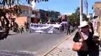 People in Tacna March in Second Day of Anti-Mine Strike