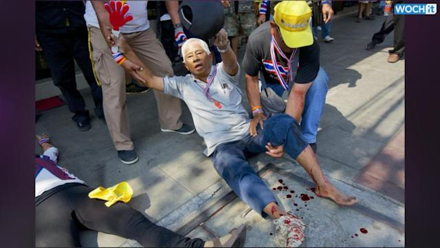Explosion Hits Bangkok Protesters, Wounding Dozens