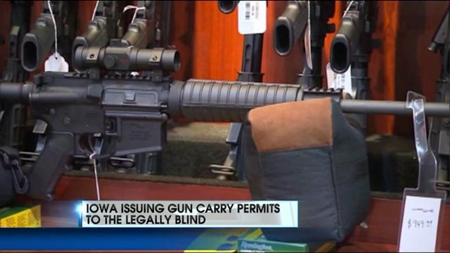 Iowa Issuing Gun Permits To The Blind?
