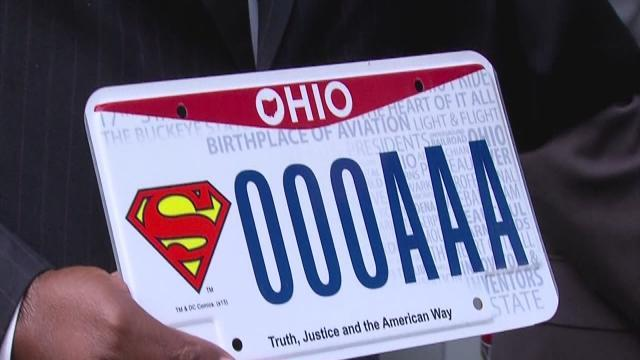 New Ohio license plate honors the creation of Superman