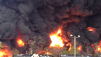 Derailed Freight Train Bursts Into Flames in Lynchburg