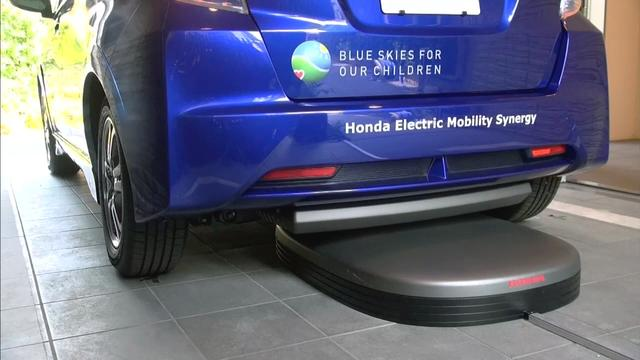 Watch: Honda's self-parking, wirelessly-charged electric car