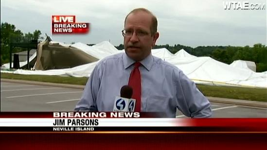 Golf dome at RMU Island Sports Center collapses in storm