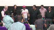 Natasa Stankovic, Satish Kaushik, Tom Alter At Promise Dad Trailer Launch