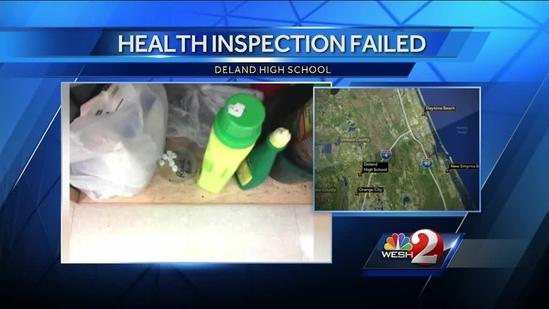 DeLand High School fails health inspection
