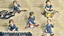 Baby and Instruments Make Music