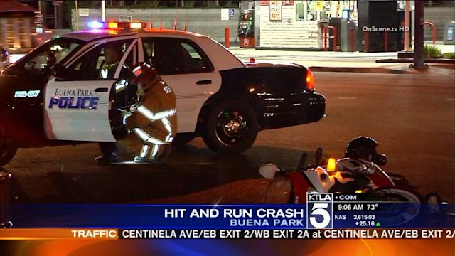 Buena Park Hit-and-Run Leaves Motorcyclist Critically Injured