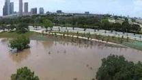 Drone Footage Shows Extent of Downtown Houston Flooding
