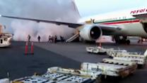 Fire on tarmac sends passengers running from airplane in Canada