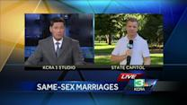 Same-sex marriages shift to churches