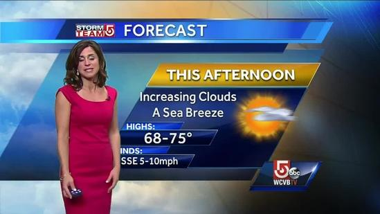Cindy's Tuesday afternoon Boston forecast