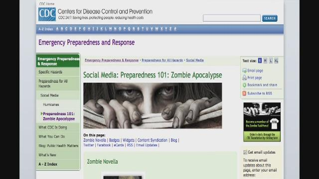 Zombies help website with disaster readiness message