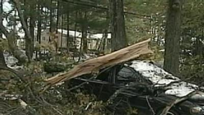 Cars Crushed, Power Out In Lancaster