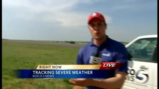 Tracking storm development in NW Oklahoma