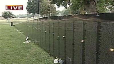 Model Of Vietnam Memorial On Display In York