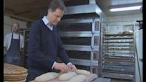 Nick Clegg makes bread in Lake District bakery