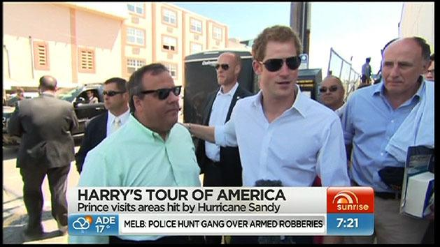 Prince Harry tours Hurricane Sandy region